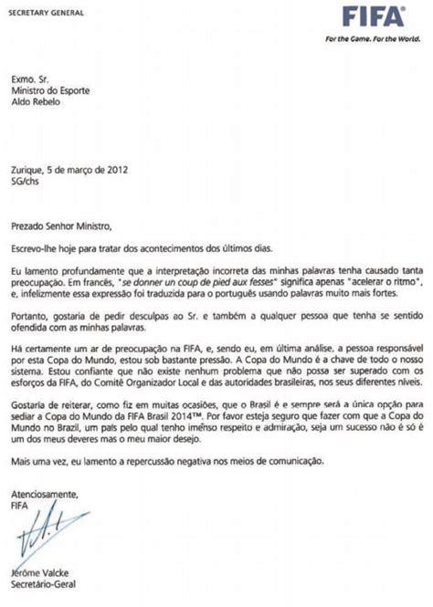 carta formal em portugues de portugal ministro oficializa pedido de novo interlocutor da copa de 2014 224 fifa globoesporte