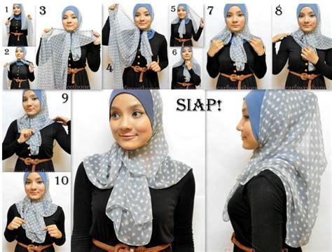 Tutorial Hijab Segiempat Najwa | aujourd hui on attache le foulard zafro