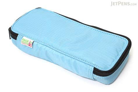 pencil case with 3 sections nomadic pn 91 top open pencil case light blue jetpens com