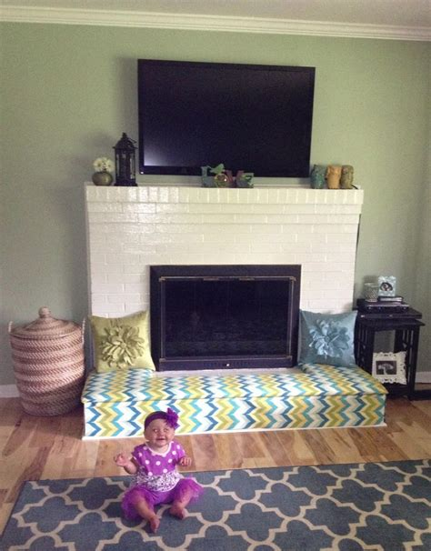 Child Proof Brick Fireplace by Baby Proofing Fireplace Diy Fireplace Bench Cut Plywood
