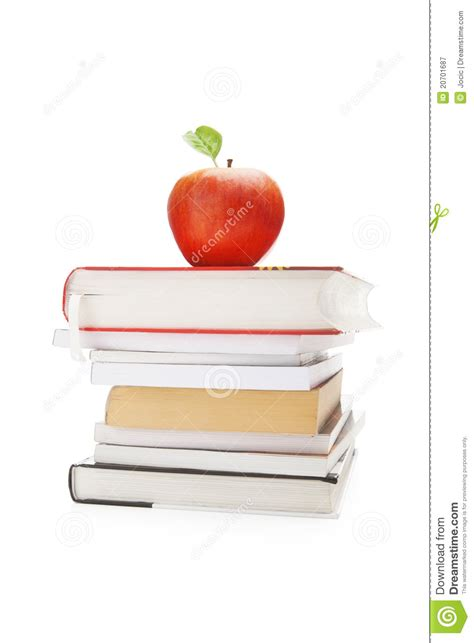 apple picture books books and apple royalty free stock photography image