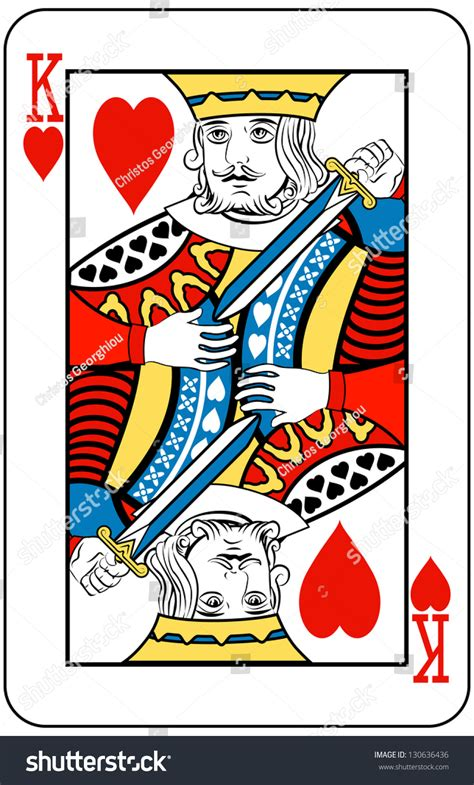 king hearts card stock illustration 130636436