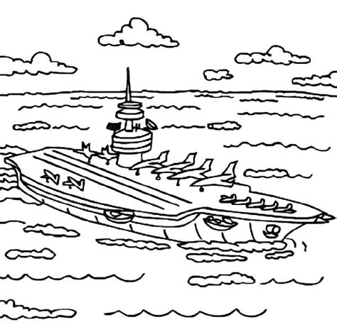 coloring page aircraft carrier aircraft carrier coloring pages