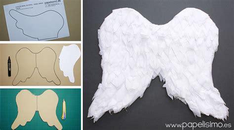 alas con papel crep alas de 225 ngel de papel para ni 241 o papelisimo