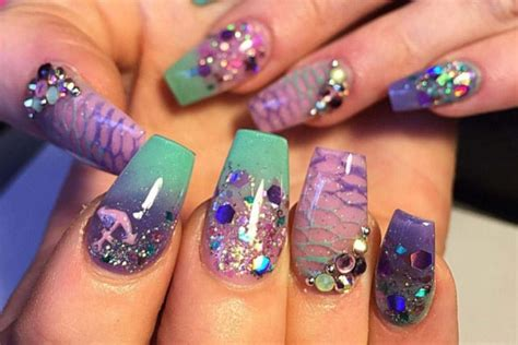 aquarium design nail art 20 epic mermaid nail designs to rejuvenate under the sea vibe