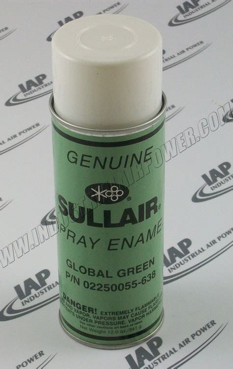 sullair   green paint aerosol