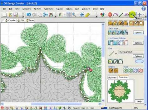 Embroidery Design Creator | add stippling to an embroidery design in 5d design creator