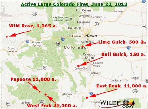 colorado wildfire map map of colorado wildfires june 22 2013 wildfire today