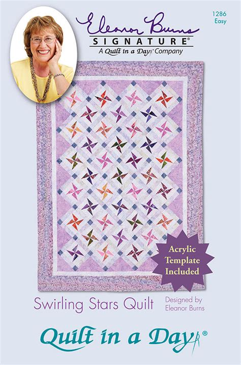 Quilt In A Day Pattern Acrylic Template Swirling Eleanor
