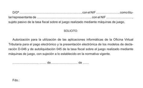 carta de autorizacion transferencia electronica orden de 30 de mayo de 2013 por la que se regula la gestin la presentacin y el pago electrnico