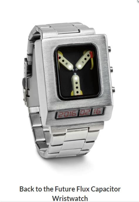 back to the future flux capacitor box set back to the future mens flux capacitor wristwatch time date w batteries ebay