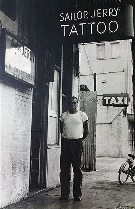 tattoo parlour old street norman keith collins aka sailor jerry standing in front