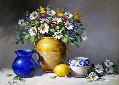 imagenes arte pinturas bodegones  jarrones artesanales