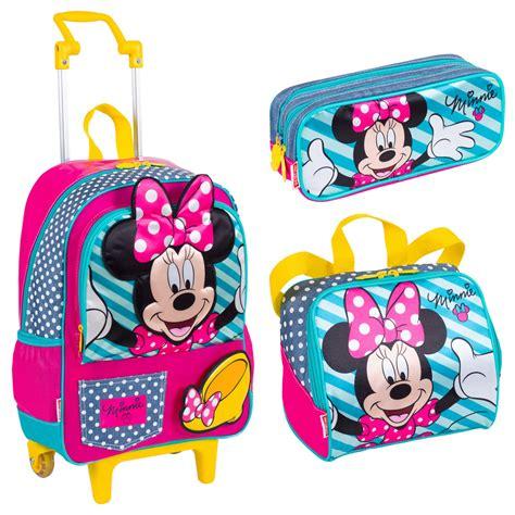 imagenes de kit escolares kit escolar infantil minnie com mochilete m 233 dia lancheira