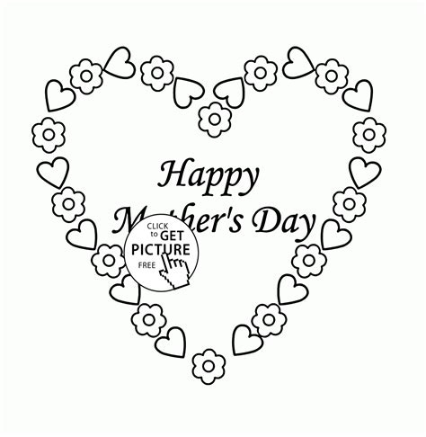 cute coloring pages for mother s day cute heart for mother s day coloring page for kids