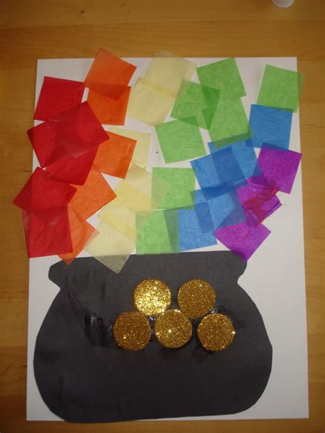 gold craft preschool crafts for st s day tissue