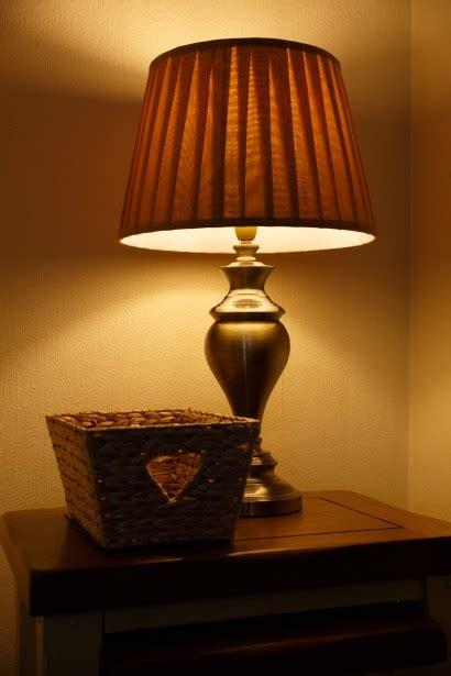 lit table lamp  stock photo public domain pictures