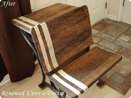 Refinishing School Desk by That S The Ticket Features And Giveaway Winner Lovely Etc
