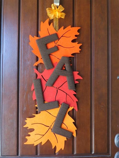 diy door ornaments diy fall door decorations fall outdoor decor diy projects