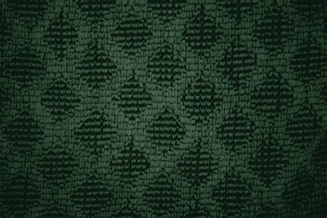 brown green pattern forest green dish towel with diamond pattern close up