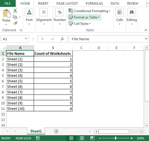file format xlsx vba count worksheets in multiple files microsoft excel tips