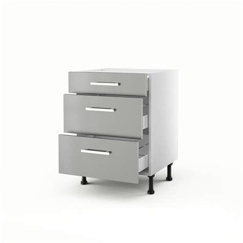 meuble de cuisine bas gris 3 tiroirs d 233 lice h 70 x l 60 x