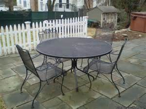 Wrought Iron Patio Table And Chairs Vintage Wrought Iron Patio Table And Chairs Price 500 In Westport California Cannonads