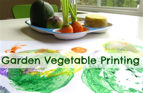 Garden Activities For Toddlers Garden Vegetable Printing No Time For Flash Cards