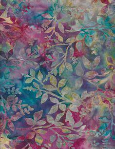 Kain Batik Batik Handprint 3 Blue Bali Batik Floral Fabric Bali Blue