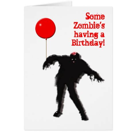 printable zombie birthday cards zombie cards zombie card templates invitations photo