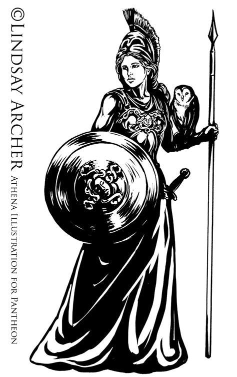 athena illustration pantheon card game artist lindsay
