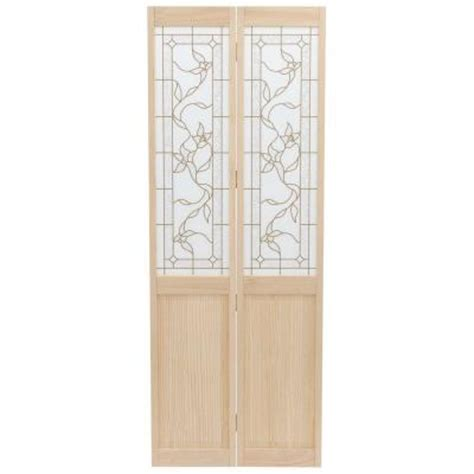 30 X 80 Interior Door Opening by Pinecroft 30 In X 80 In Glass Panel Tuscany Wood