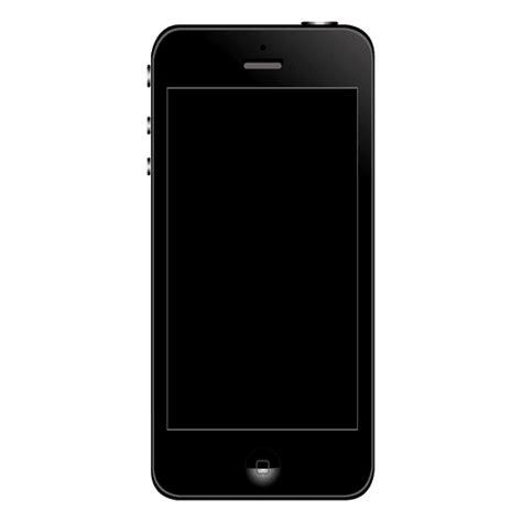 Transparan Iphone 4 5 iphone 5 front transparent png svg vector