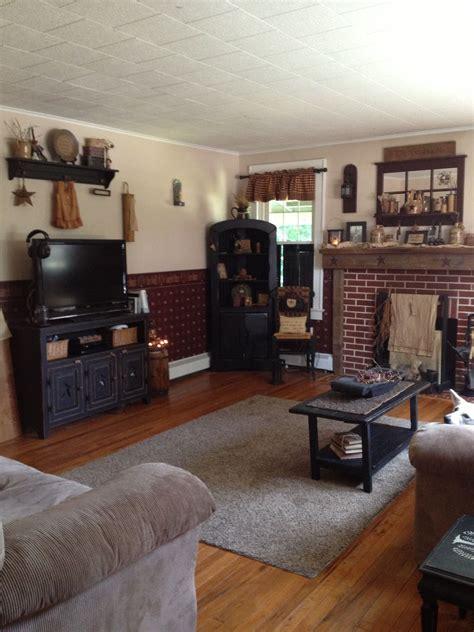 primitive living room  primitive home primitive