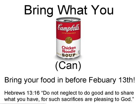 can food drive quotes quotesgram