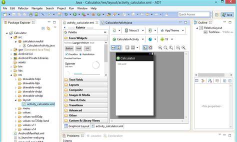 membuat aplikasi android kalkulator naufal farid tutorial membuat aplikasi kalkulator android