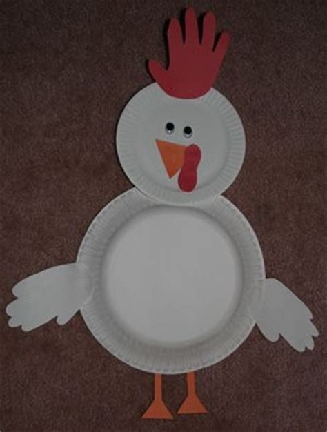 Paper Plate Chicken Craft - prints rooster craft and farm unit on