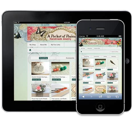 themes facebook mobile etsy theme shop free facebook mobile store by snakeo on etsy
