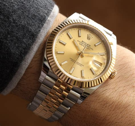 Rolex Fullgold rolex datejust 41 two tone watches on ablogtowatch
