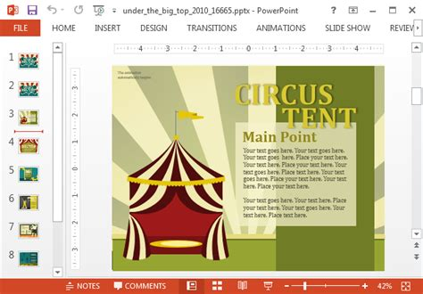 powerpoint themes carnival animated carnival powerpoint template slidehunter com