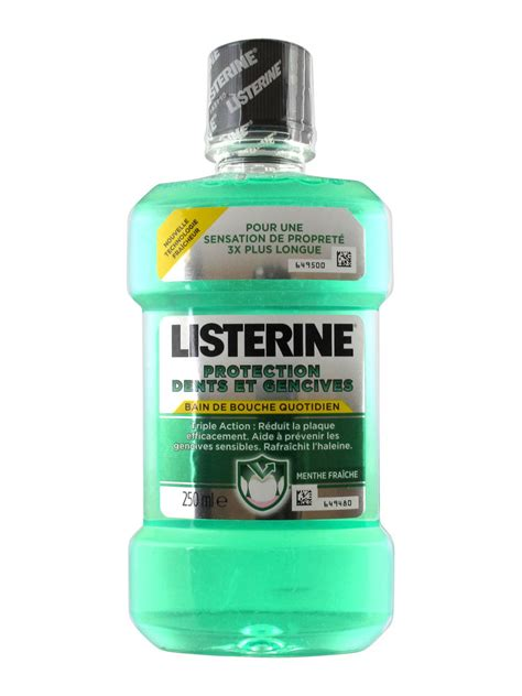 listerine teeth and gum defence mouthwash 250ml