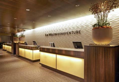 The Westin Bonaventure Hotel Suites Los Angeles Front Hotel Lobby Reception Desk