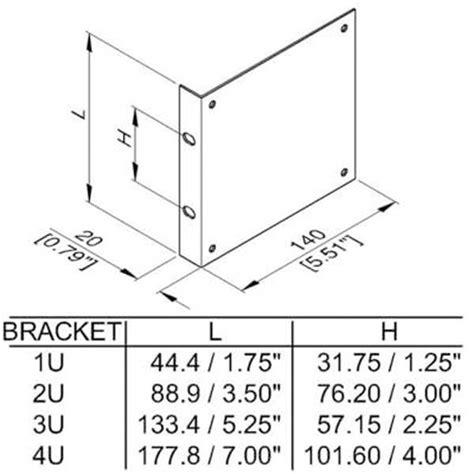 Rack Mount Dimensions by 19 Inch Coverter Rack Brackets 2u 3u And 4u 19 Panels
