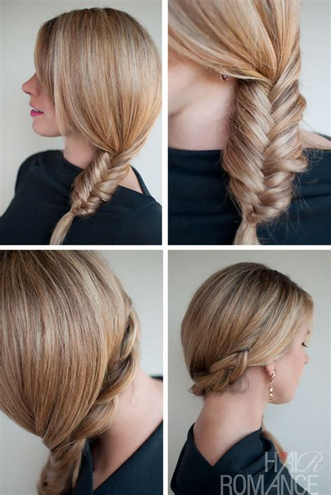 casual hairstyles with braids simple casual side fishtail braid super easy casual side