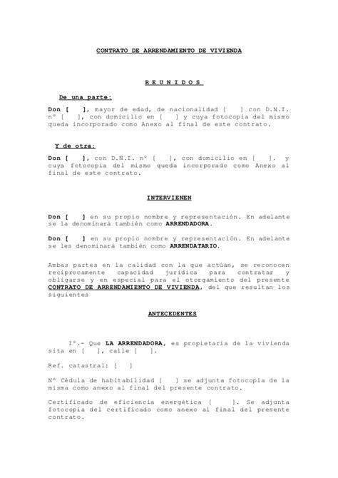 contrato de renta de casa en espanol gratis formato de arrendamiento 2015 newhairstylesformen2014 com