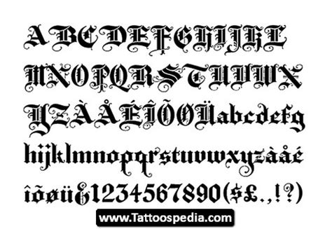 tattoo fonts old english style writing tattoos writin site