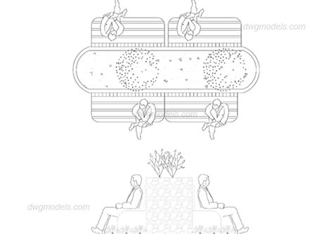 printable area autocad park seating area dwg free cad blocks download