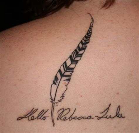 feather memorial tattoo 40 mind blowing feather tattoos creativefan