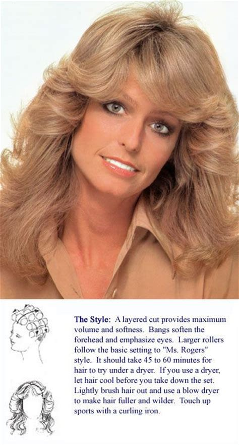 farrah fawcett hair cut instructions 17 best images about vintage hair setting patterns on