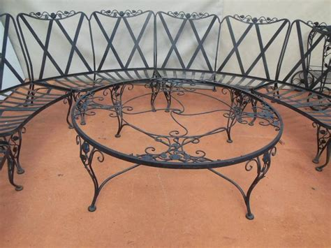 Woodard Wrought Iron Patio Furniture Woodard Patio Set Chantilly Pattern 11 Pieces Wrought Iron At 1stdibs